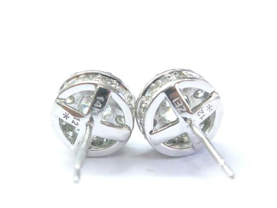 Other Fine Round Cut Diamond Stud Earrings White Gold 1.91Ct Image 2