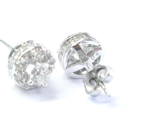 Other Fine Round Cut Diamond Stud Earrings White Gold 1.91Ct Image 3
