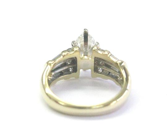 Other 18Kt Marquise Baguette & Round Diamond Yellow Gold Engagement Ring 1.2 Image 2