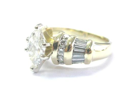 Other 18Kt Marquise Baguette & Round Diamond Yellow Gold Engagement Ring 1.2 Image 4