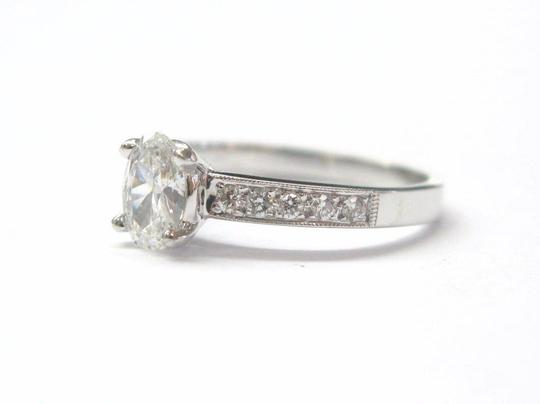 Other 18Kt Oval Solitaire Diamond Engagement Ring WG .74Ct Image 1
