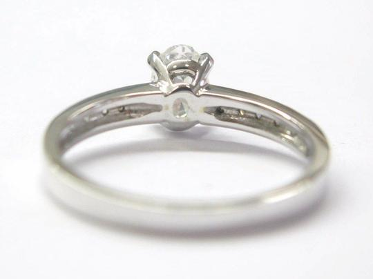 Other 18Kt Oval Solitaire Diamond Engagement Ring WG .74Ct Image 2