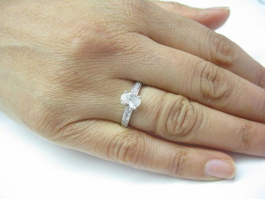 Other 18Kt Oval Solitaire Diamond Engagement Ring WG .74Ct Image 3