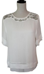 Zara Top White with Beading