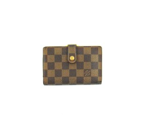 Louis Vuitton Damier Coated Canvas Leather French Clutch Snap Wallet