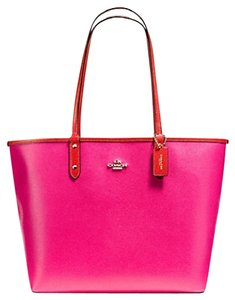 Coach Tote in IMITATION GOLD/CARMINE/PINK RUBY