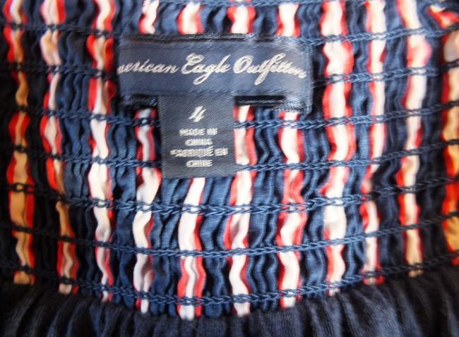 American Eagle Outfitters short dress blue,white,orange Striped Navy on Tradesy