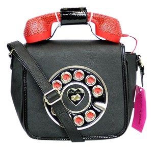 Betsey Johnson Faux Leather Cross Body Bag