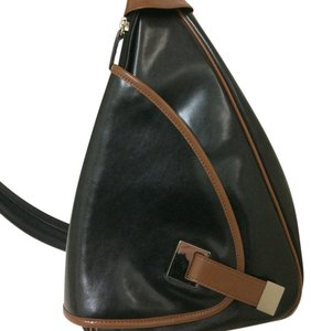 Norm Thompson Leather Holiday Slingback Two-tone Backpack