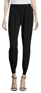 Joie Brand New Tags Attached 100% Silk Relaxed Pants Caviar (Black)