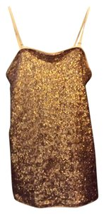 Express Sequins Gypsy Top Pale Pink and Bronze