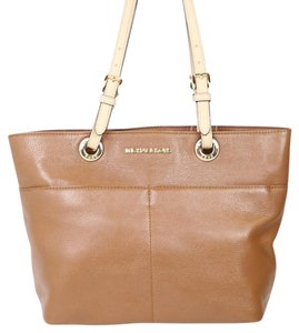 Michael Kors Gold Hardware Leather Tote in Brown