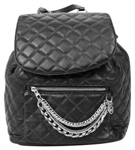 Michael Kors Quilted Leather Silver Hardware Backpack