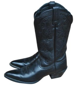 Ariat Cowboy Leather Low Heel Comfortable Black Boots