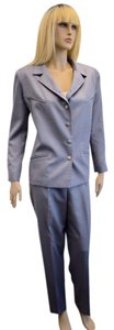 Chanel CHANEL WOMEN'S DESIGNER GRAY SILK / WOOL BLEND PANT SUIT SIZE 42/8 eti