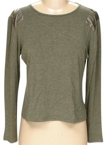 Fendi Longsleeve Crew Neck Casual Patchwork Elbow Patches Top