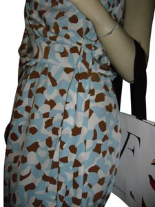 Diane von Furstenberg short dress sky blue, brown on Tradesy