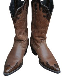 Other Leather Comfortable Low Heel Tan/Brown Boots