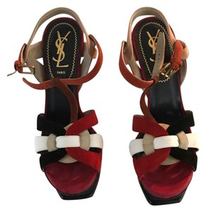 Saint Laurent Navy, Red, White, Nude Sandals