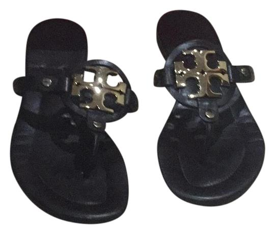 Tory Burch Black / Bronze Sandals Image 0