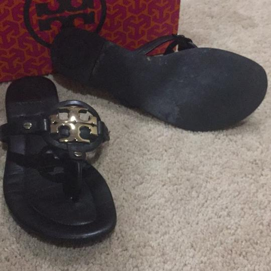 Tory Burch Black / Bronze Sandals Image 1