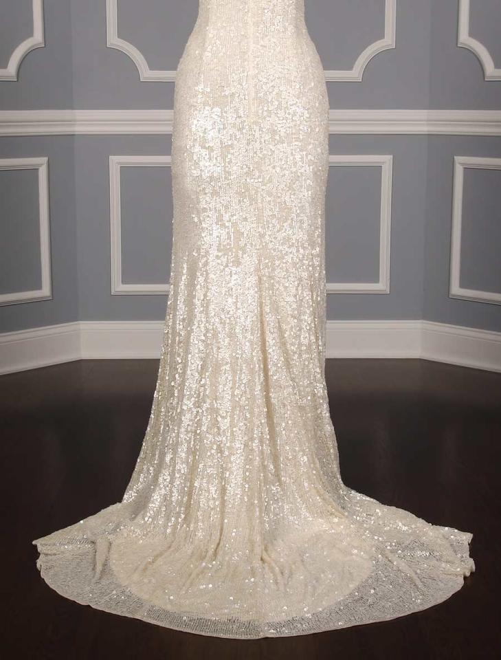 Theia White Sequins Harlow 890060 Formal Wedding Dress Size 2 (XS ...