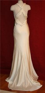 Nicole Miller Bridal Cross Back Satin Gown Wedding Dress