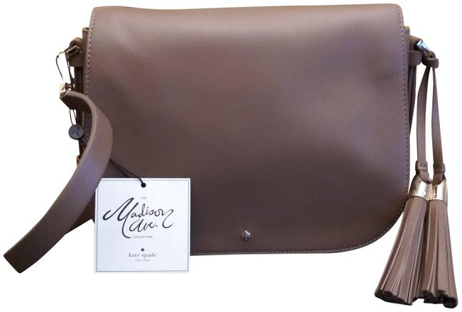 Item - Linn Madison Avenue Carriage Drive Brown Leather Cross Body Bag