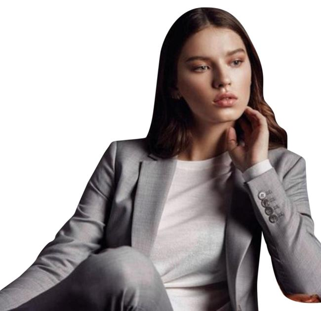 Preload https://img-static.tradesy.com/item/21080560/ann-taylor-grey-one-button-down-blazer-with-pant-suit-size-4-s-0-1-650-650.jpg