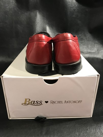 Bass Rachel Antonoff Leather Loafer Plaid Insert Red Flats Image 1