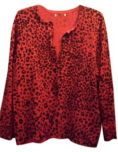 Other Leopard Punk Goth Cardigan Pin Up Sweater