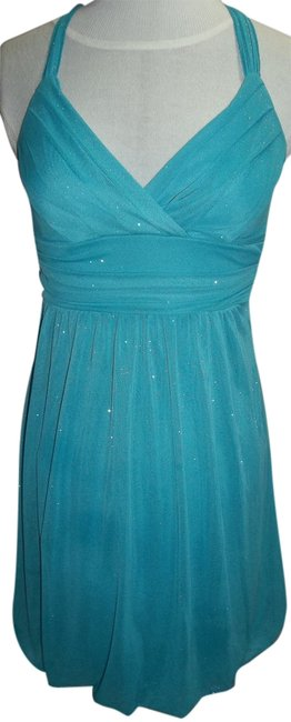 Preload https://item2.tradesy.com/images/turquoise-above-knee-formal-dress-size-6-s-2108061-0-0.jpg?width=400&height=650