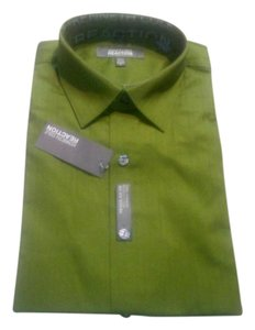 Kenneth Cole Reaction Cotton Spring T Shirt green