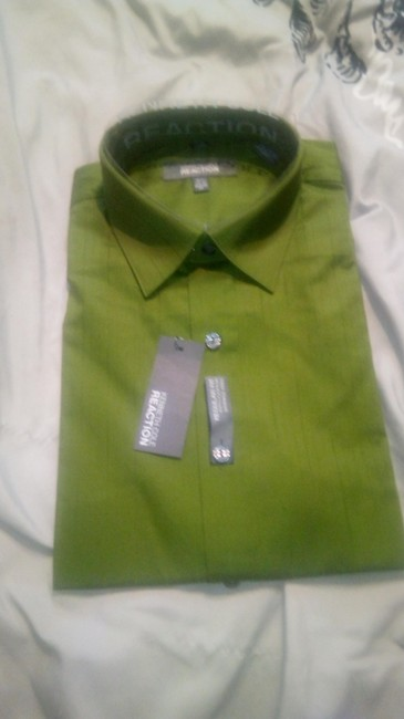 Kenneth Cole Reaction Cotton Spring T Shirt green Image 1