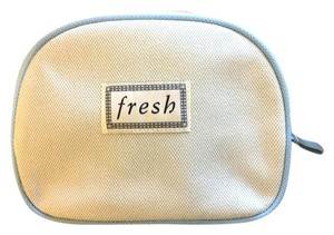 Fresh Fresh Canvas Blue Textured Cosmetic Case Makeup Bag Travel Case ~NEW