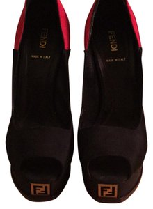 Fendi Black/Pink/Red Platforms