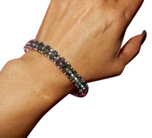 Other new RAINBOW TOPAZ BEAUTIFUL LARGE GEMS TENNIS BRACLET .7.5-8IN