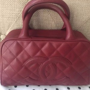 Chanel Satchel in Red