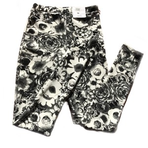 Topshop Floral Velour White and Black Leggings
