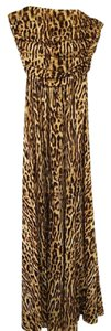 Black and Brown Maxi Dress by Cline