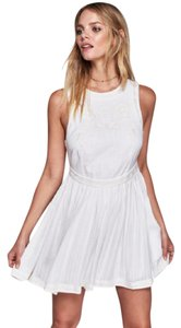 Free People short dress White Embroidery Boho Anthropologie on Tradesy