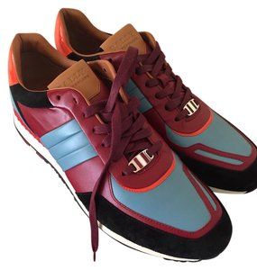 Bally Leather Red Stripe Multicolor Athletic