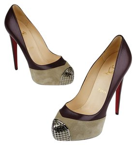 Christian Louboutin Louboutin Pumps Red Bottom Maggie Maroon Platforms
