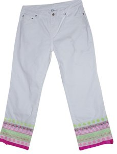 Lilly Pulitzer Capris white pink green