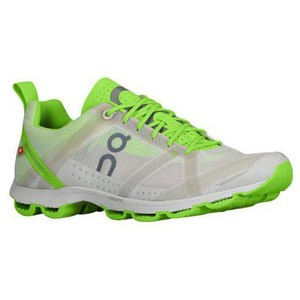 On Running Jogging Lightweight Silver/Lime Athletic