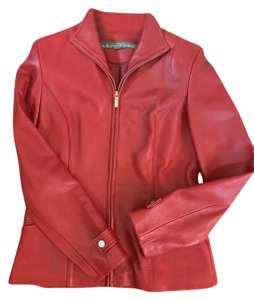 Kenneth Cole #leatherjacket #100%leather #jacket Real RED Leather Jacket