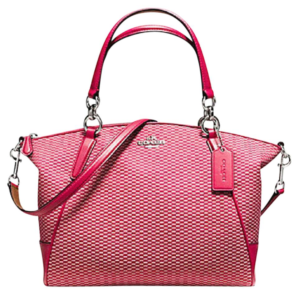c7c3bdb421c43 Coach Kelsey Small Exploded Reps Print 57244 Red Canvas Satchel ...
