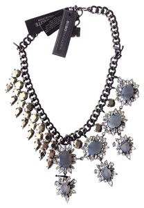 BCBGMAXAZRIA stone flower spike necklace