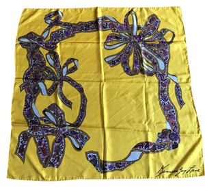 Kenneth Jay Lane vintage yellow scarf