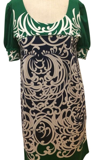 Preload https://img-static.tradesy.com/item/21081421/vivienne-tam-green-and-navy-patterned-silk-knit-sleeve-mid-length-short-casual-dress-size-8-m-0-1-650-650.jpg
